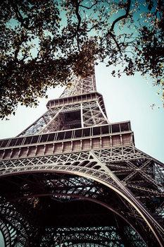 Skleněný Obraz Paříž - Eiffelova věž