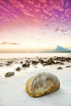Skleněný Obraz Pink World - Růžová pláž