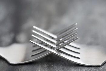 Skleněný Obraz Vidličky - Spojení
