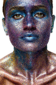 Skleněný Obraz Žena umění - Socha obličeje