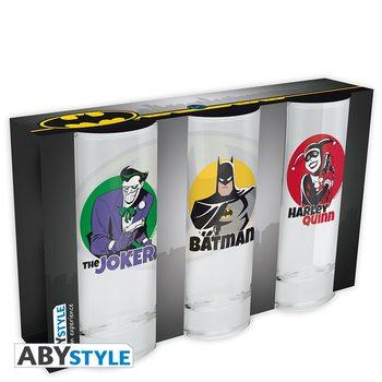 Sklenička DC Comics - Batman, Joker, Harley