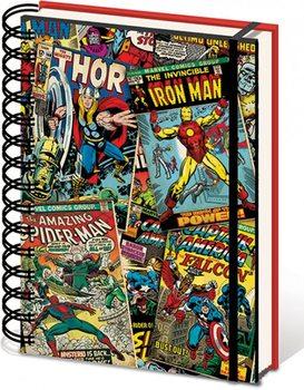Marvel A5 Notebook - Lenticular Skolesager