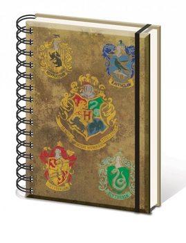 Harry Potter - Hogwart's Crests A5 notebook  Skrivesaker