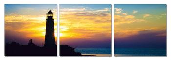 Lighthouse at Sunrise Slika