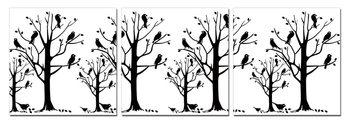 Modern design - black trees Slika