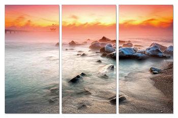 Sunset on the beach Slika