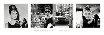 Audrey Hepburn - breakfast at tiffany's Smale plakat