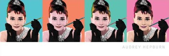 AUDREY HEPBURN - pop art 4 Smale plakat