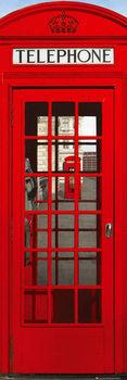 Londen - telephone box Smale plakat