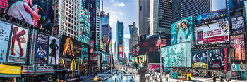 New York - Times Square Panoramic Smale plakat