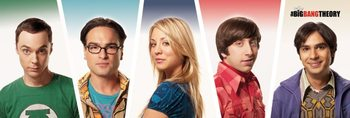 The Big Bang Theory - Cast Smale plakat