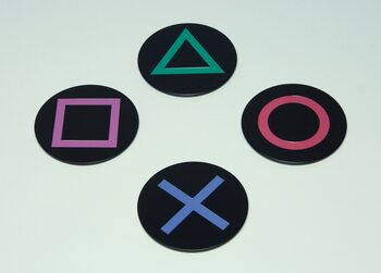 Sottobicchiere Playstation - Icons