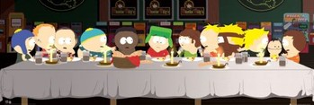 SOUTH PARK - last supper - плакат (poster)