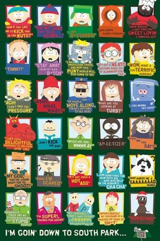 SOUTH PARK - quotes - плакат (poster)