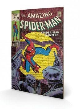 Bild auf Holz Spiderman - Wanted