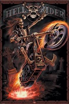 Spiral - hell rider - плакат (poster)