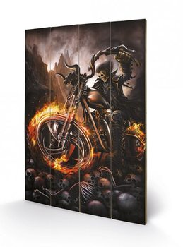 Poster su legno SPIRAL - wheels of fire