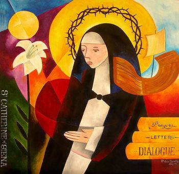 St. Catherine of Siena, 2007 Festmény reprodukció