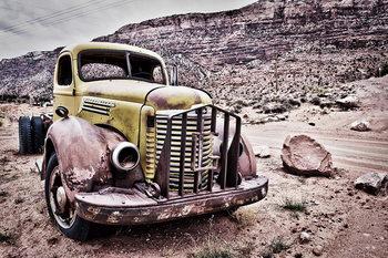 Cars - Old car Staklena slika