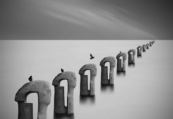 Grey Seas Staklena slika