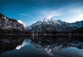 Night Reflections Staklena slika