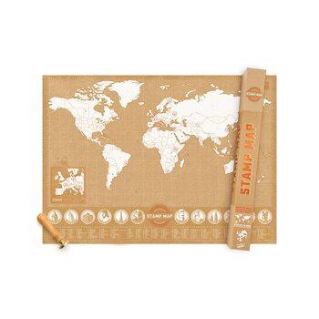 Skrapkarta Stamp Map