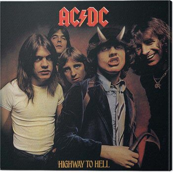 Stampa su Tela AC/DC - Higway in the Hell