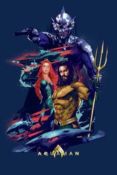 Stampa su Tela Aquaman - Dark