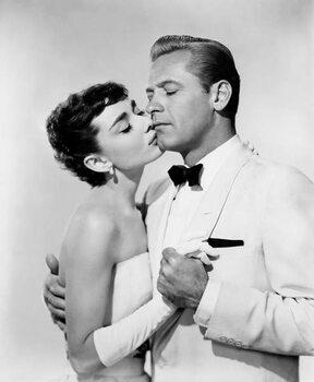 Stampa su Tela Audrey Hepburn And William Holden