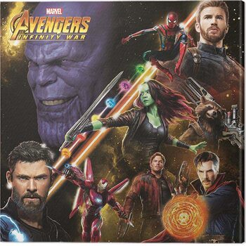 Stampa su Tela Avengers: Infinity War - Space Montage