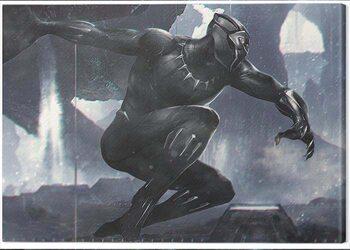 Stampa su Tela Black Panther - To Action