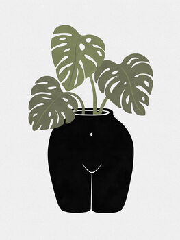 Stampa su Tela Body-tanical Vase