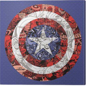 Stampa su Tela Captain America - Shield Collage