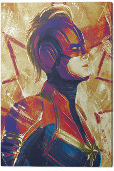 Stampa su Tela Captain Marvel - Paint