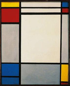 Stampa su Tela Composition, 1931, by Piet Mondrian . Netherlands, 20th century.