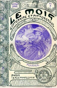 Stampa su Tela Cover of the magazine (monthly magazine) Le Month litteraire et picturesque by Alphonse Mucha : month of February 1899 - Maison de la Bonne Presse -