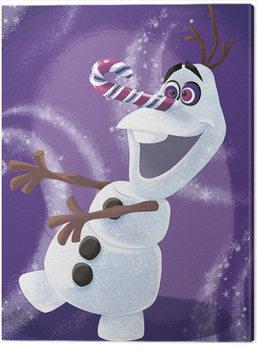 Stampa su Tela Frozen: Il regno di ghiaccio - Olaf Dizzy