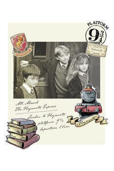 Stampa su Tela Harry Potter - Hermione, Harry e Ron