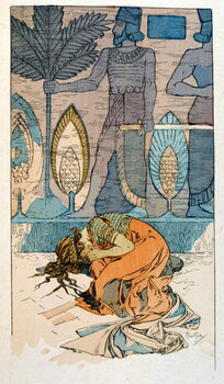 Stampa su Tela Illustration by Alphonse Mucha from Rama a poem in three acts by Paul Verola. ca.1898. Mucha . was a Czech Art Nouveau painter
