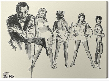 Stampa su Tela James Bond - Dr. No - Sketch