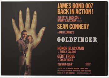 Stampa su Tela James Bond - Goldfinger - Hand
