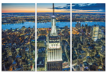Stampa su Tela Jason Hawkes - Empire State Building at Night
