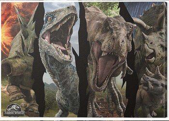 Stampa su Tela Jurassic World: Fallen Kingdom - Dinosaur Split