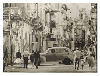 Stampa su Tela Lee Frost - Havana Street, Cuba