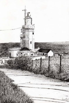 Stampa su Tela Lighthouse Isle of Wight, 2010,