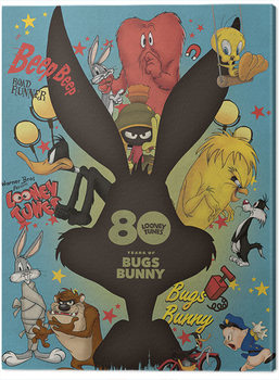 Stampa su Tela Looney Tunes - Bugs Bunny Crazy Saturday Morning Cartoons