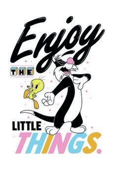 Stampa su Tela Looney Tunes - Enjoy the little things