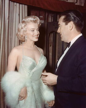Stampa su Tela MARILYN MONROE, 1953 California USA Hollywood Party, 1953