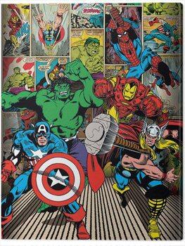 Stampa su Tela Marvel Comics - Here Come the Heroes