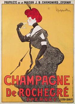 Stampa su Tela Poster advertising Champagne de Rochegre
